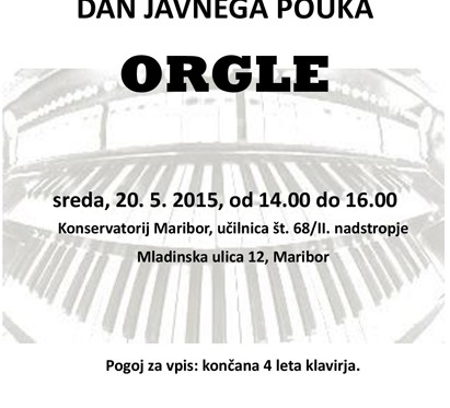 Dan javnega pouka orgle