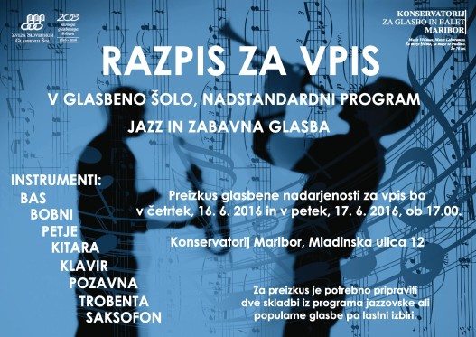 Vpis na Jazz program
